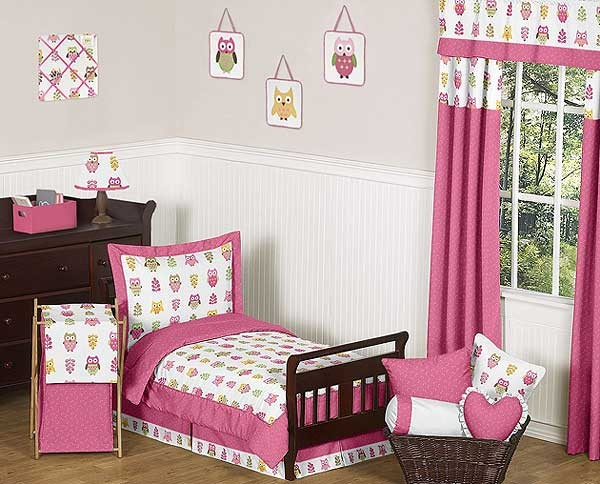 Happy Owl Toddler Bedding Set By Sweet Jojo Designs