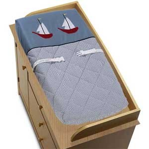 Come Sail Away Changing Pad Cover
