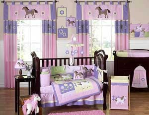 Pony Crib Bedding Set by Sweet Jojo Designs - 9 piece