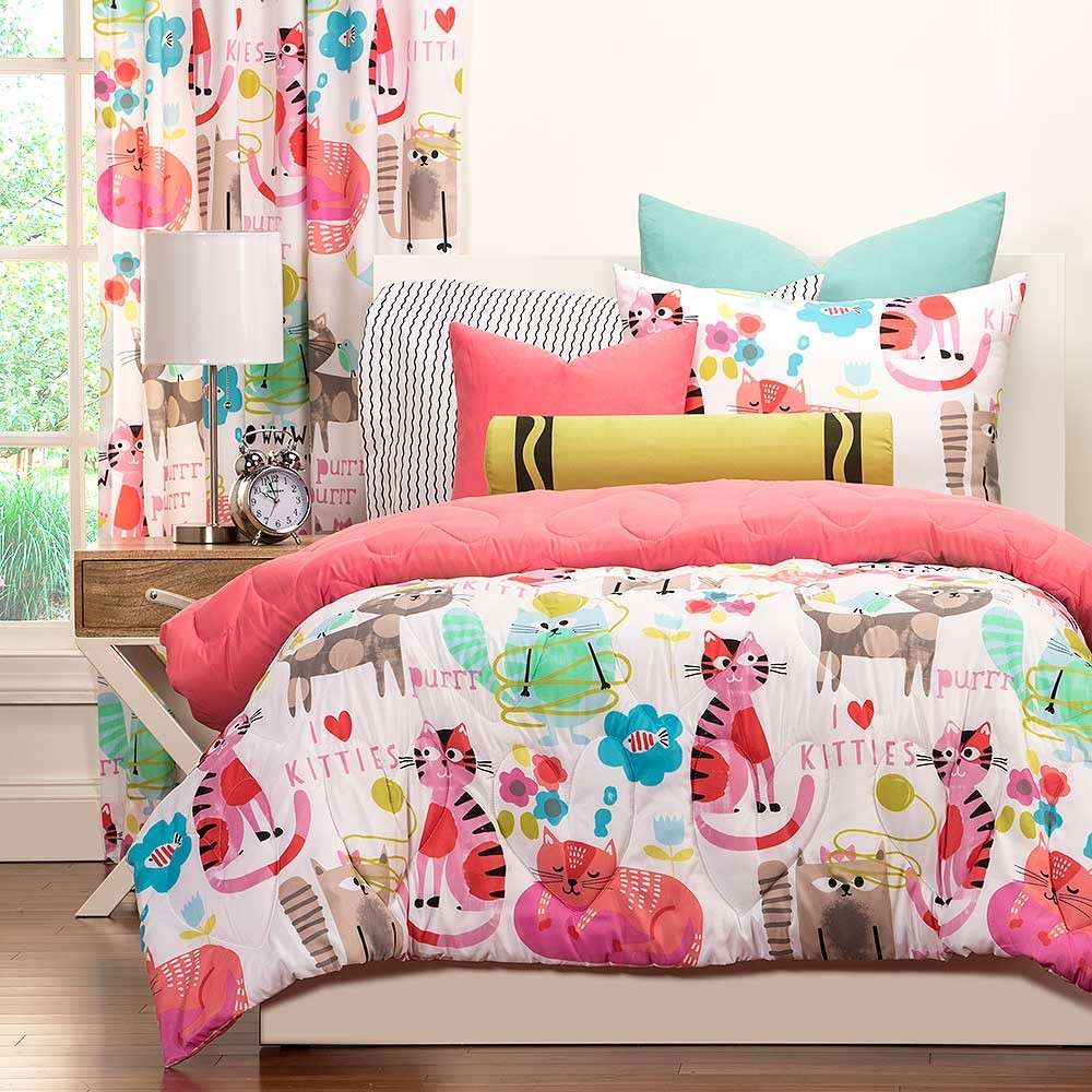 Bed sheets for teenagers - Purrty Cat Comforter Set