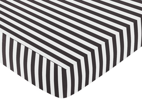 pink striped crib sheet