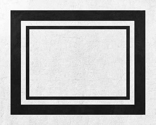 Hotel White & Black Floor Rug