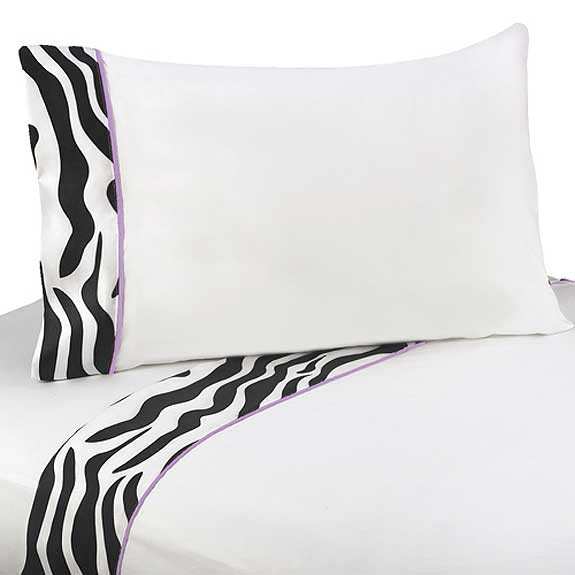 Purple Zebra Sheet Set