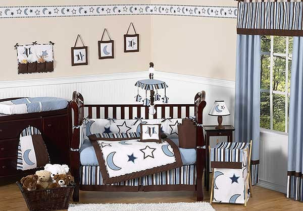 Starry Night Crib Bedding Set by Sweet Jojo Designs - 9 piece
