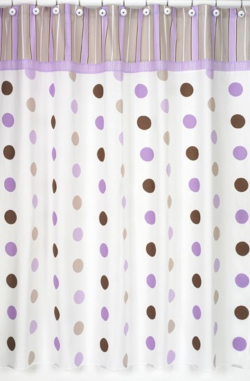 Lavender Mod Dots Shower Curtain