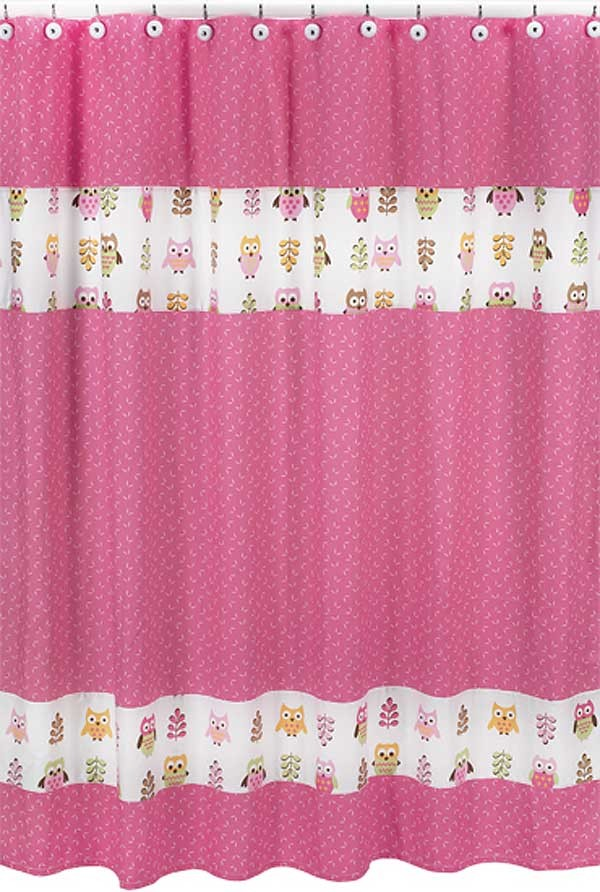 Happy Owl Shower Curtain