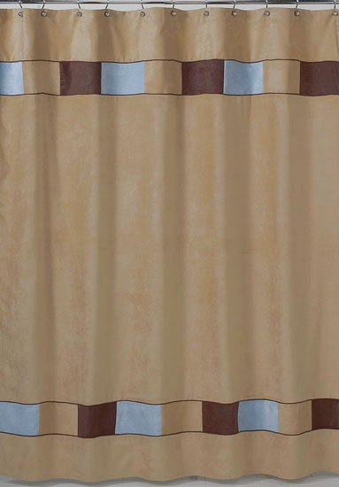 Soho Blue and Brown  Shower Curtain