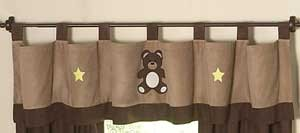 Teddy Bear Chocolate Valance
