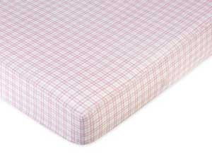 Teddy Bear Pink Crib Sheet