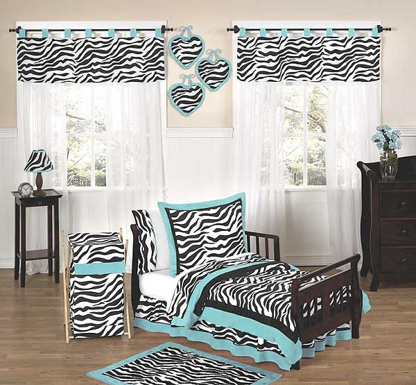 Blue Zebra Toddler Bedding Set By Sweet Jojo Designs