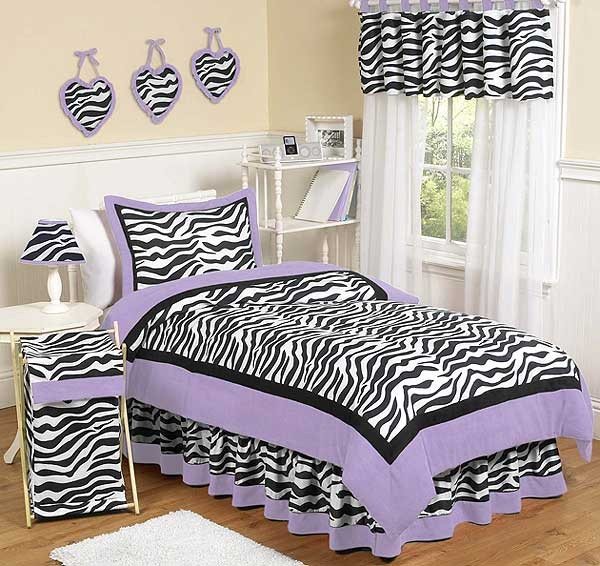Purple Zebra Bedding Set - 4 Piece Twin Size By Sweet Jojo Designs