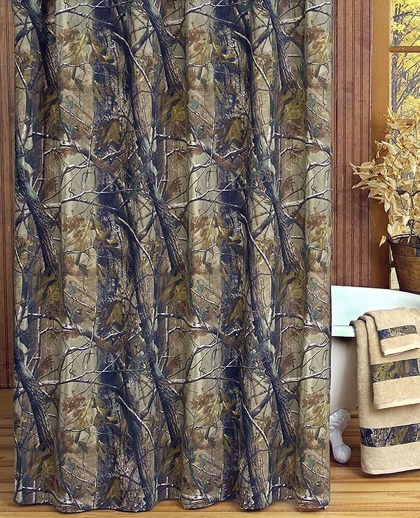 All Purpose Camouflage Shower Curtain