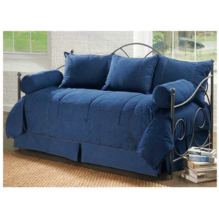 American Denim Daybed Set by Karin Maki. American Denim Daybed Set   Karin Maki   Blue Jean Day Bedding