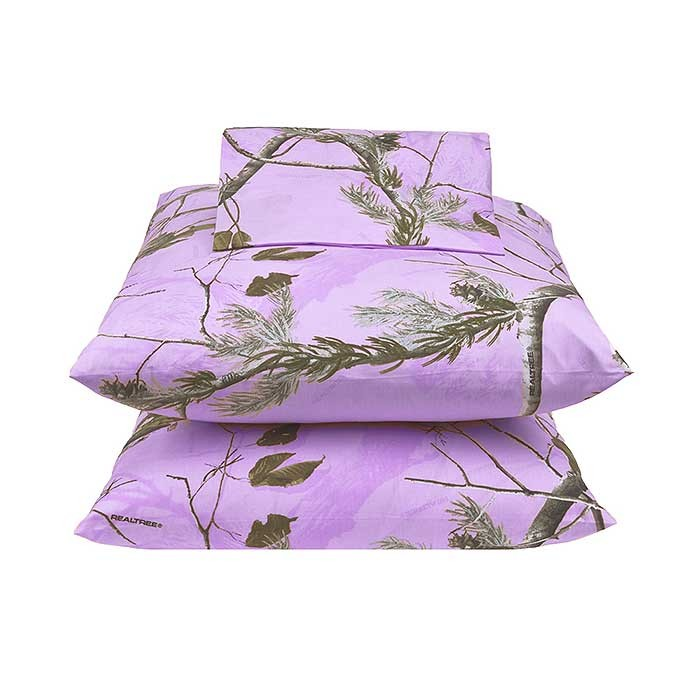 Ap Lavender Camouflage Bedding Queen Size Sheet Set