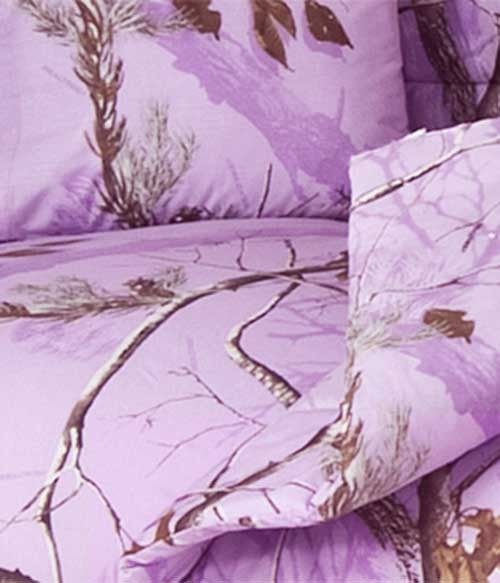 ap lavender camouflage comforter set twin size - Camouflage Bedding