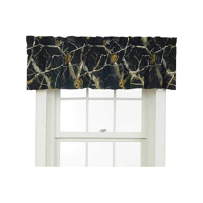 AP Black and White Camo Valance