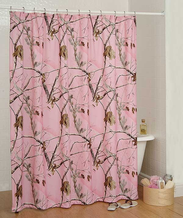 AP Pink Camo Shower Curtain