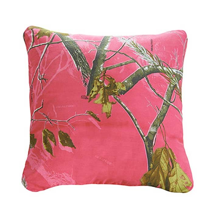 AP Fuchsia Camouflage Square Pillow