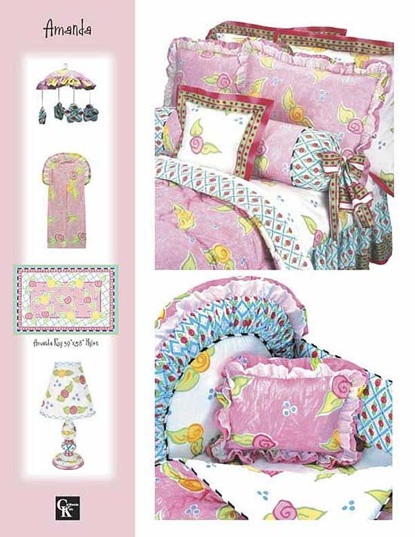 Amanda Print Fitted Sheet - Crib Size