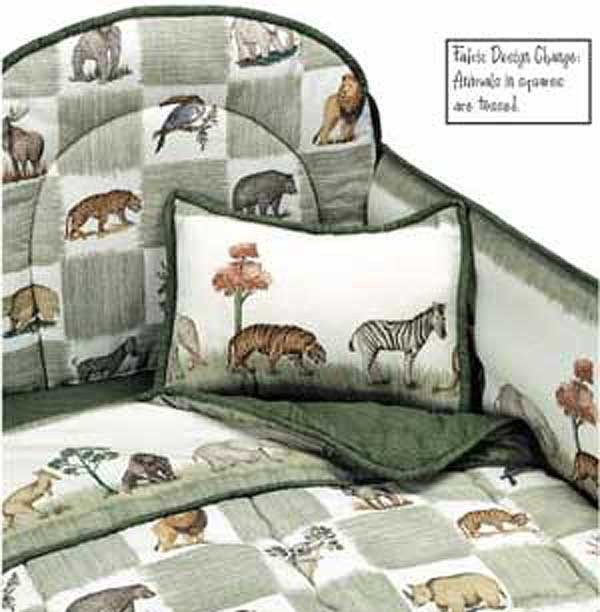 Animal Kingdom 4 Piece Crib Bedding Set by California Kids