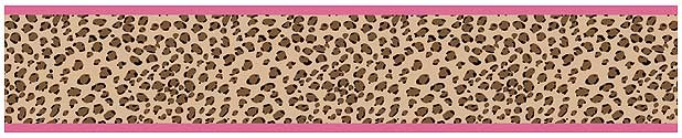 Cheetah Pink Wall Border