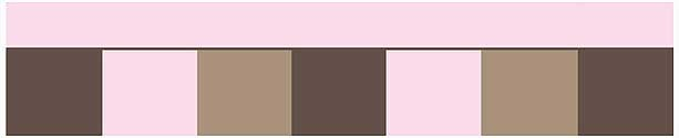 Soho Pink and Brown Wall Border