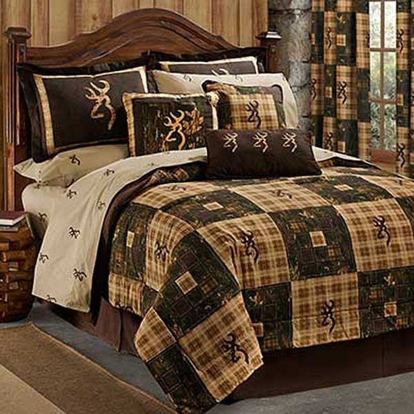 Browning Country Queen Size Comforter Set Lodge Bedding