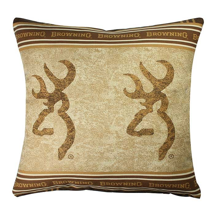 Browning Buckmark Square Pillow