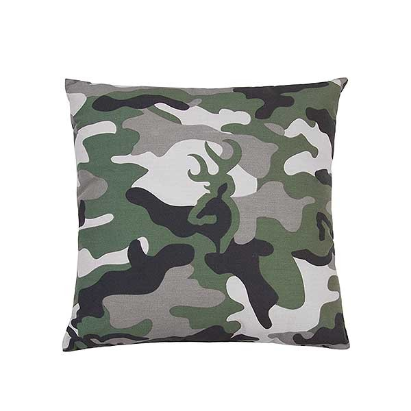 Buckmark Camo Green Square Pillow Overall