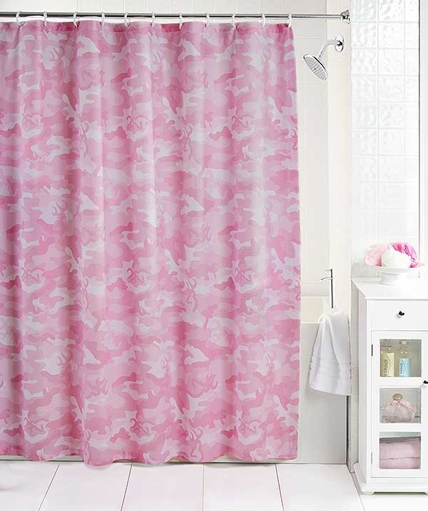 Buckmark Camo Pink Shower Curtain