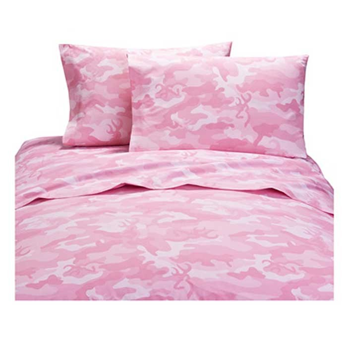 Buckmark Camo Pink Sheet Set - Full Size