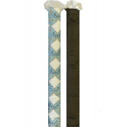 Wonder Bumper Vertical Crib Liners - Damask Blue - 2 Pack