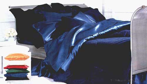 Satin Solid Color Bed in a Bag Set - Available in 7 Colors - 300 Thread Count