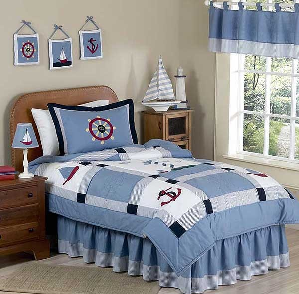 Come Sail Away Nautical Bedding Set - 3 Piece Full/Queen Size by Sweet Jojo Designs