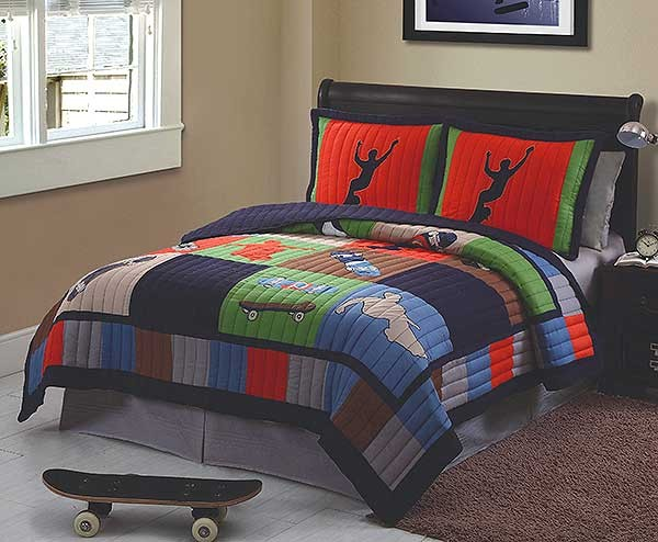Cool Skate Full/Queen Quilt with 2 Shams