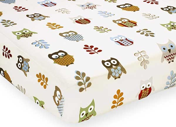 Owl Crib Sheet