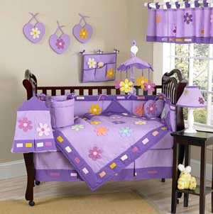 Danielles Daisies Crib Bedding Set by Sweet Jojo Designs - 9 piece