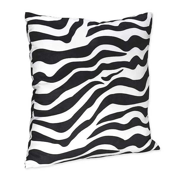 Hot Pink Zebra Accent Pillow