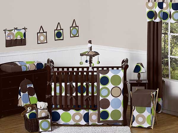 Designer Dot Crib Bedding Set by Sweet Jojo Designs - 9 piece