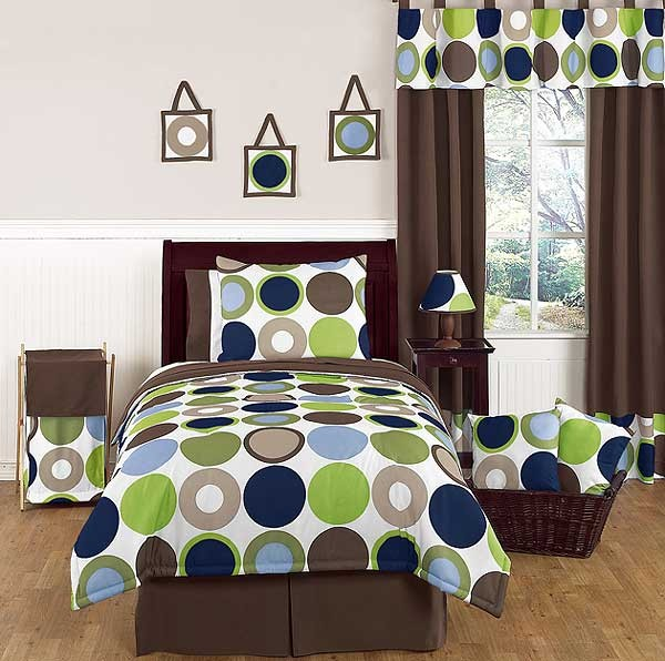 Designer Dot Comforter Set - 4 Piece Twin Size By Sweet Jojo Designs
