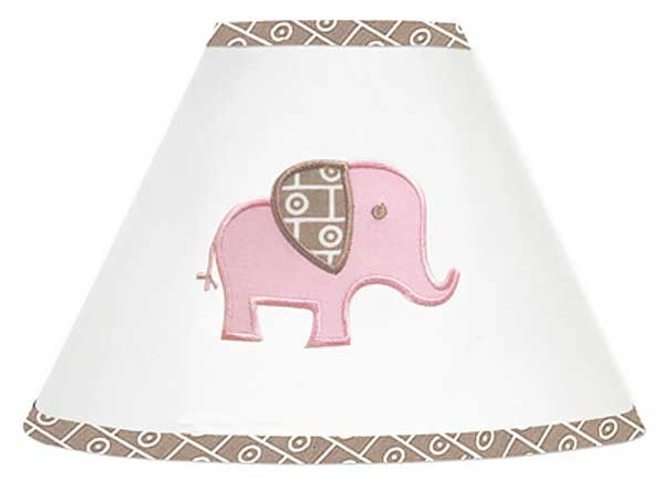 Elephant Pink & Taupe Lamp Shade