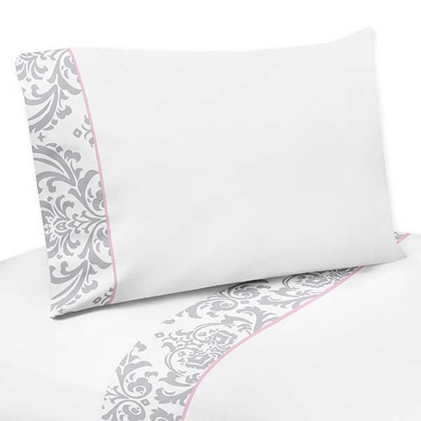 Pink & Gray Elizabeth Sheet Set