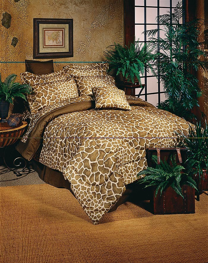 Giraffe Print Bed in a Bag Set - Twin Size