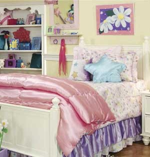 Glitter Fairy XL Twin Size Comforter - Dorm Bedding by California Kids
