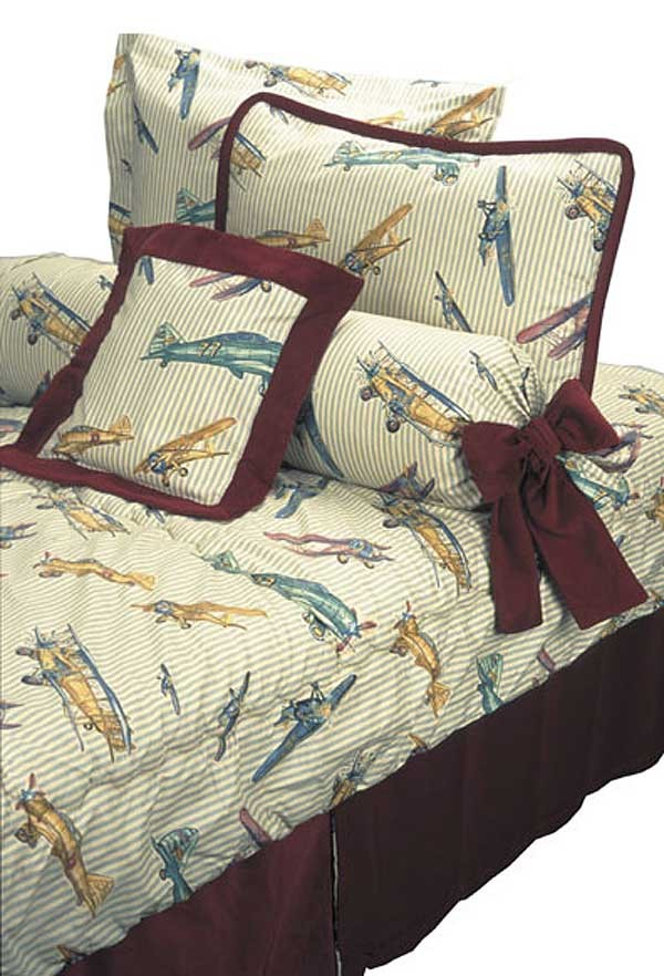 Gold Baron Airplane Themed Comforter by California Kids