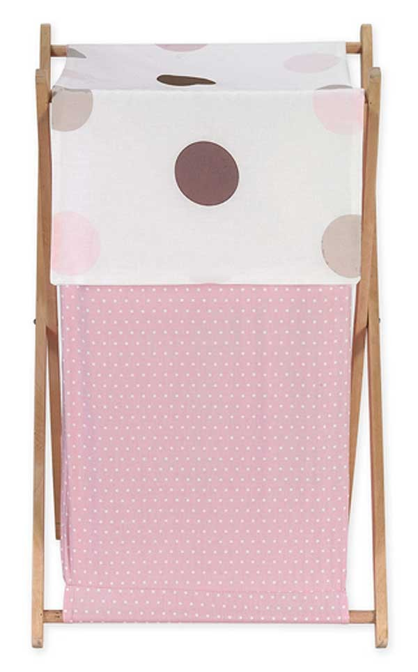 Pink and Brown Mod Dots Hamper