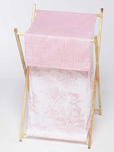 Pink French Toile Hamper