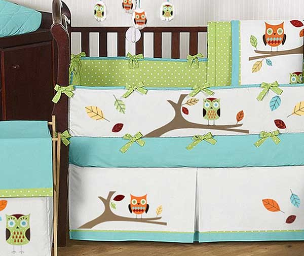 Hooty Owl Baby Crib Bedding
