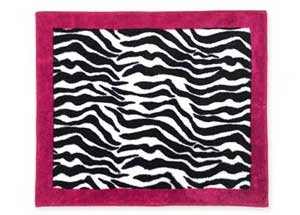 Hot Pink Zebra Floor Rug