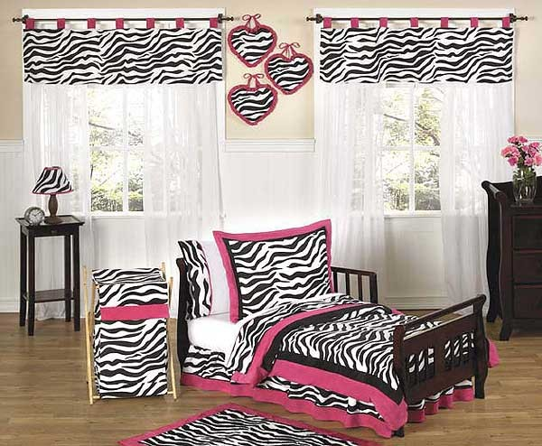 Hot Pink Zebra Toddler Bedding Set By Sweet Jojo Designs